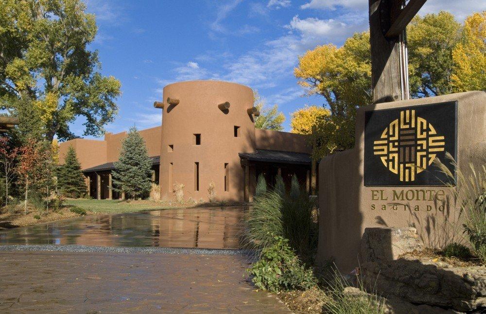 The entrance to El Monte Sagrado, Taos, NM.