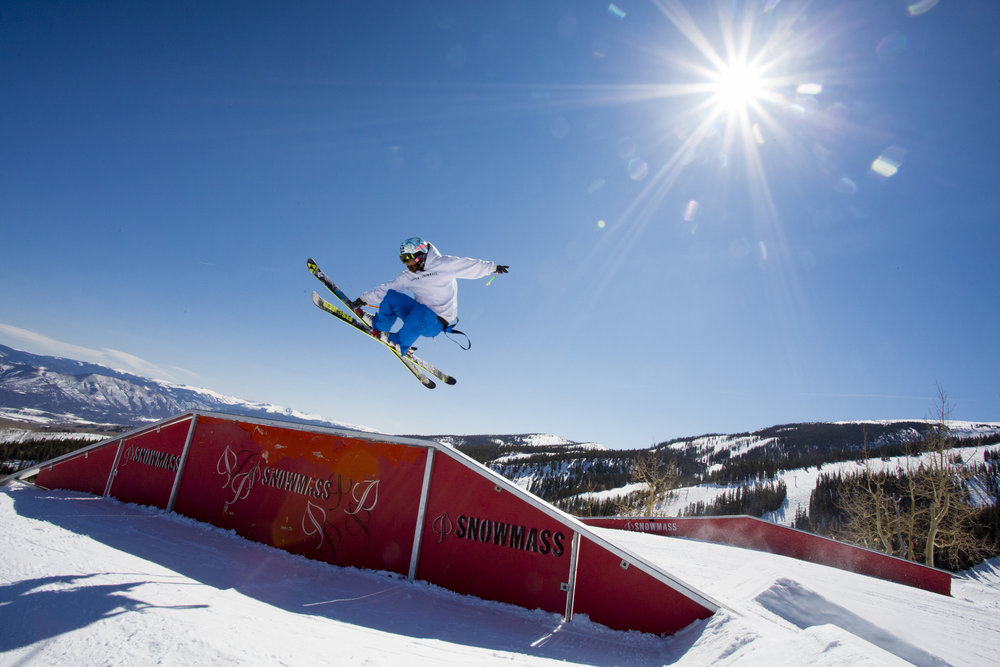 Tae Westcott shows us how it's done at Snowmass. - ©Jeremy Swanson