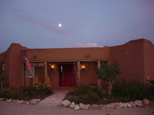 Nightfall at the Little Tree Bed & Breakfast, Taos, New Mexico.