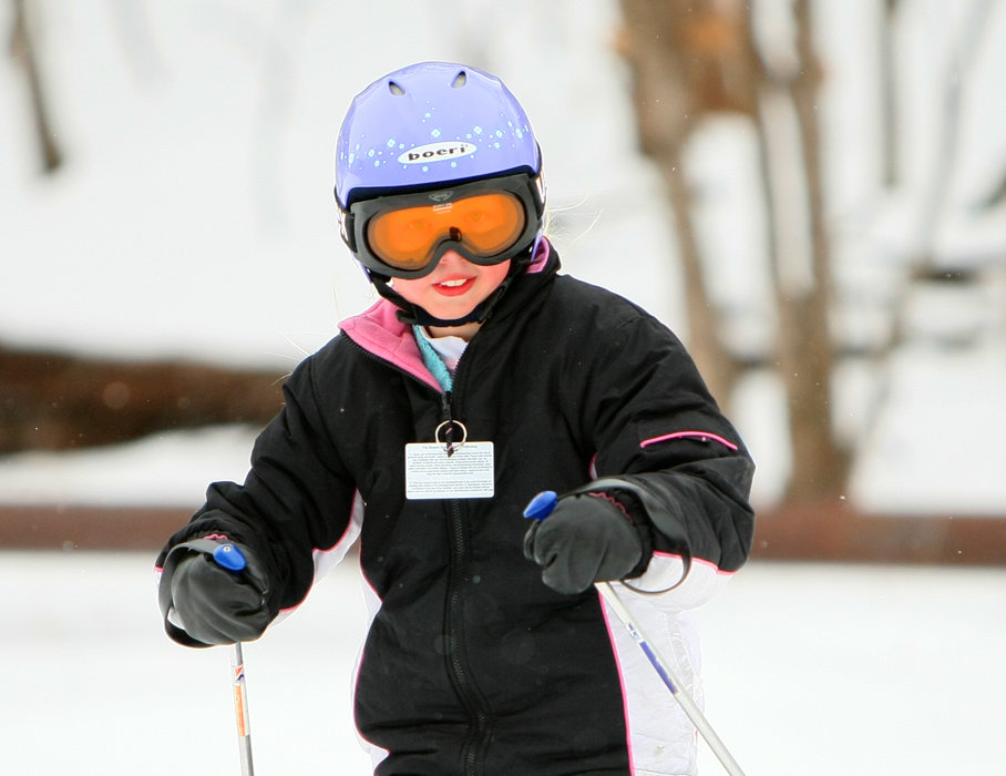 Young skier ready to go at Wild Mountain, MN