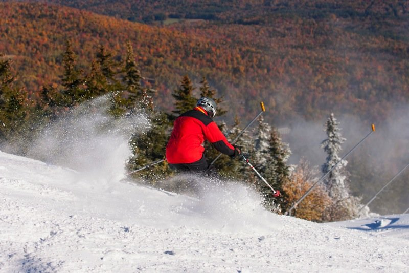 An average season brings 167 inches of natural snow to Sunday River. - ©Sunday River