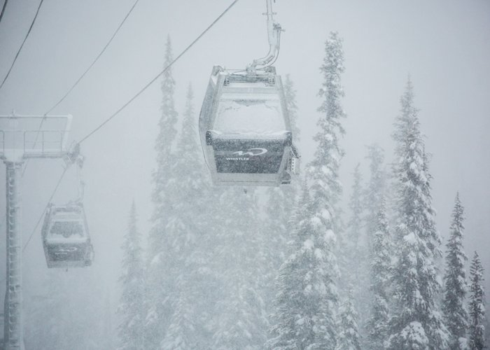 Snow covered Whistler gondolas - ©Mitch Winton at Coast Mountain Photography