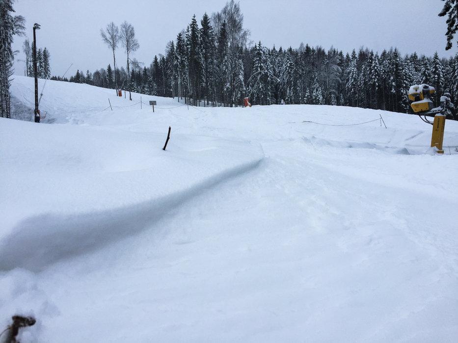 En sjelden gang dumper det i Oslo Vinterpark - i dag var en av de dagene! - ©Eirik Aspaas