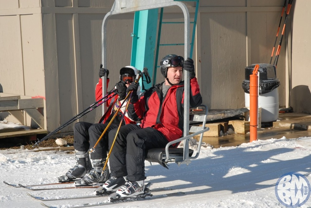 A couple on a lift at BMBW.