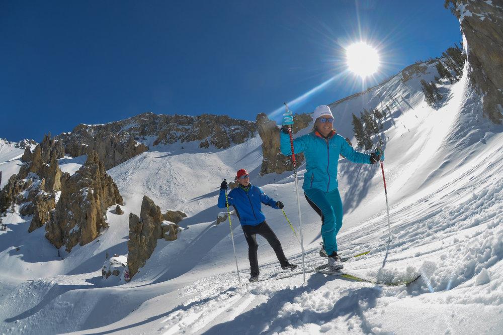 Le Queyras offre de nombreux itinéraires de ski de fond dans de magnifiques paysages - ©M. Molle / OT du Queyras