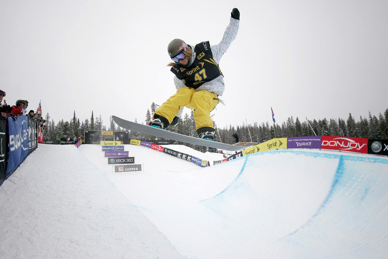 Kaitlyn Farrington at Copper, CO US Snowboarding Grand Prix .