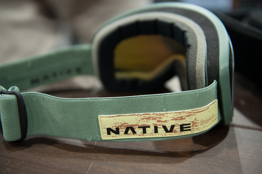Native presents its backcountry goggle collection, including the new Tenmile with fluted face foam for breathability, a nasal nest for comfort and a fog-free window said to be 16 times the average when the going gets hot. - ©Ashleigh Miller Photography