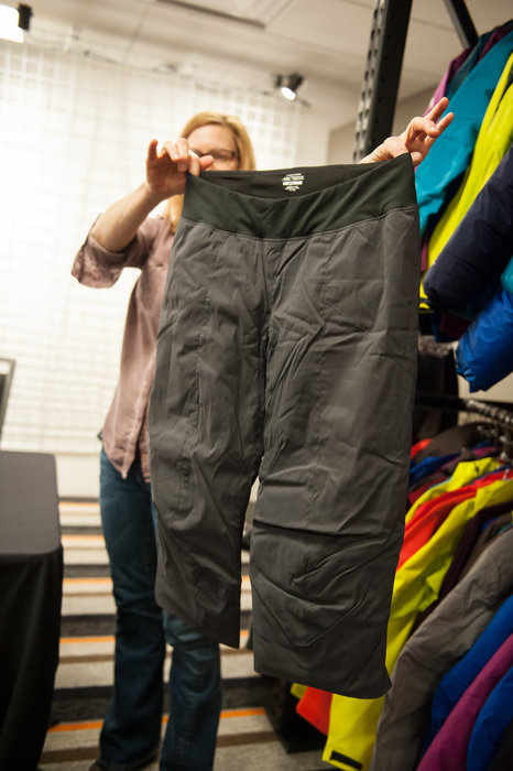 Arc'teryx makes an insulated knicker with air-permeable insulation to go under a shell pant for men and women, otherwise known as the Netfilx Pant. - ©Ashleigh Miller Photography