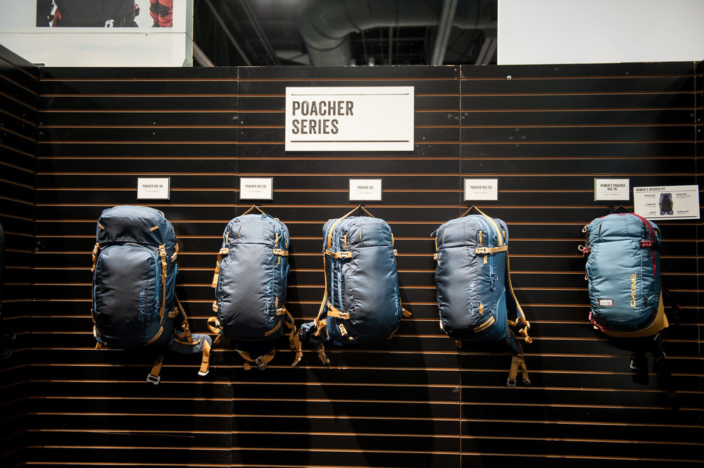 Dakine's new-for-16/17 Poacher RAS Series of backcountry packs is comprised of three pack styles and a vest, each compatible with Mammut's Removable Airbag 3.0 system. - ©Ashleigh Miller Photography