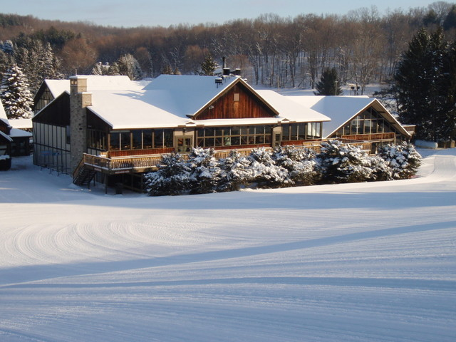 The lodge at Snow Trails, OH.