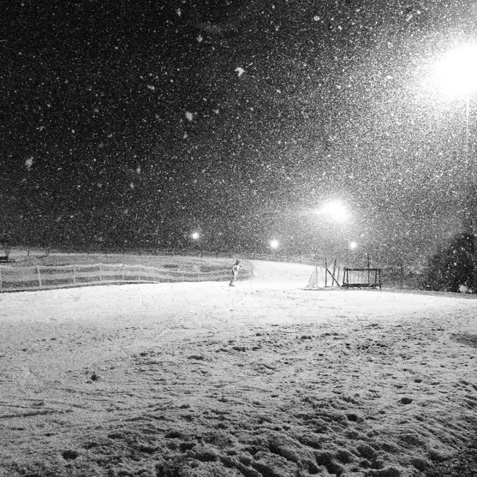 Fresh snow in Ski Resort Moninec, Czechia, 10.2.2016 - ©Areál Monínec facebook