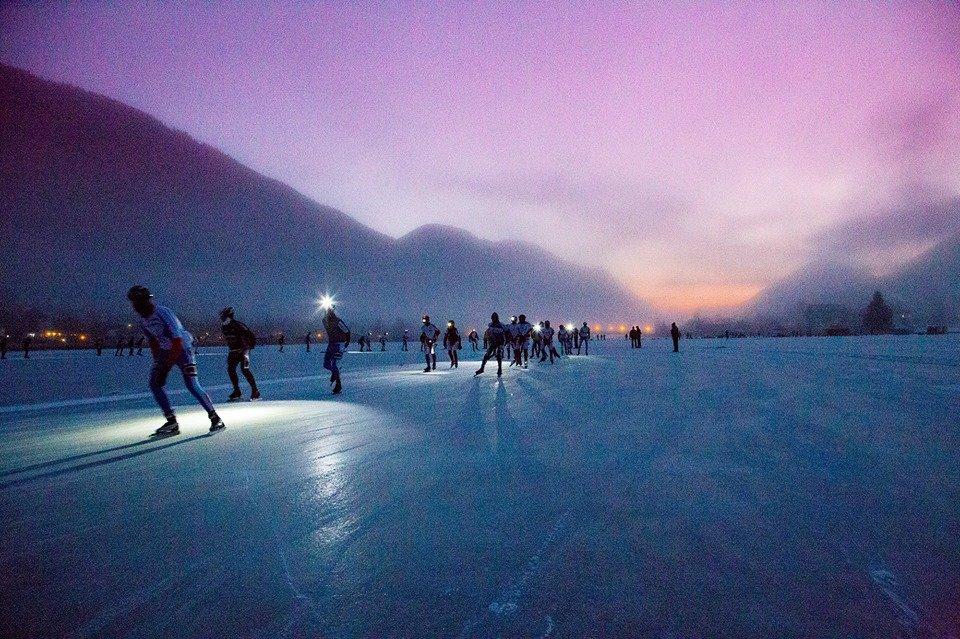 The natural ice-skating rink at Lake Weissensee, Austria - ©Weissensee Spielplatz der Natur