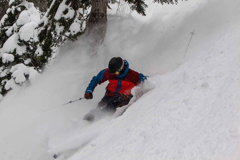 A skier seeking divine intervention at Heavenly. - ©Heavenly Mountain Resort