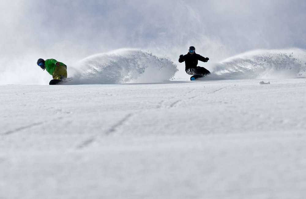 Racing for fresh powder at Mt. Bachelor. - ©Jon Trapper/Mt. Bachelor Resort