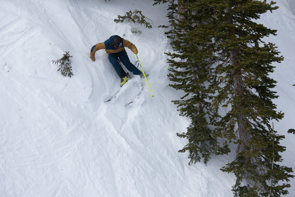 Hiking for powder turns pays off. - ©Liam Doran
