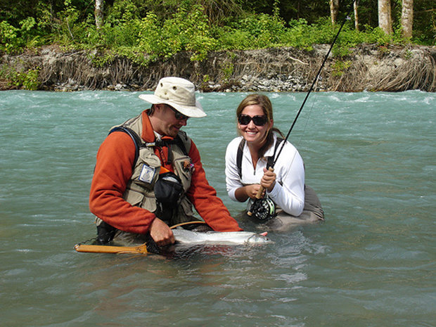 Valley Fishing Guides can get you to places by helicopter that are sure to yield fish.  - ©Valley Fishing Guides Ltd.