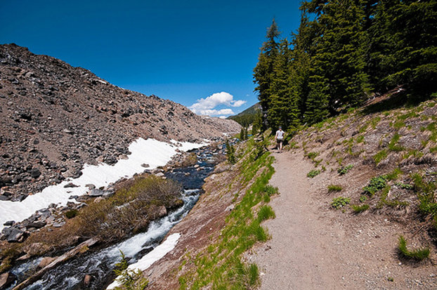 The Green Lakes Trail follows Fall Creek in the Deschutes National Forest. - ©Karl Johnson/Flickr