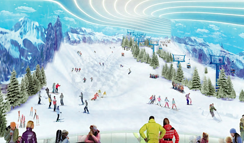 Big SNOW will span 180,000 square feet and offer 120 feet of vert.  - ©Snow Operating