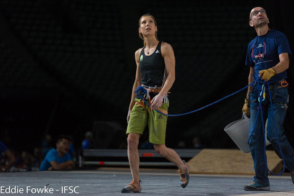 Mina Markovic holte im Lead Bronze - ©(c) FFME/Agence Kros - Remi Fabregue