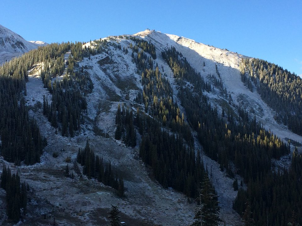 A-basin's first snow brings the Colorado stoke level up a notch.  - ©Arapahoe Basin Ski Area
