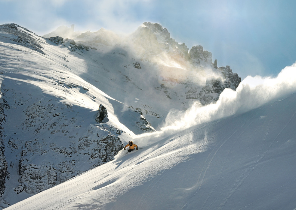 Skier at Telluride, CO.