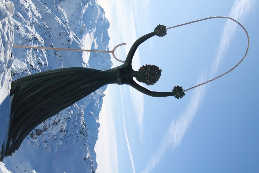 Courchevel Dali sculpture on mountainside