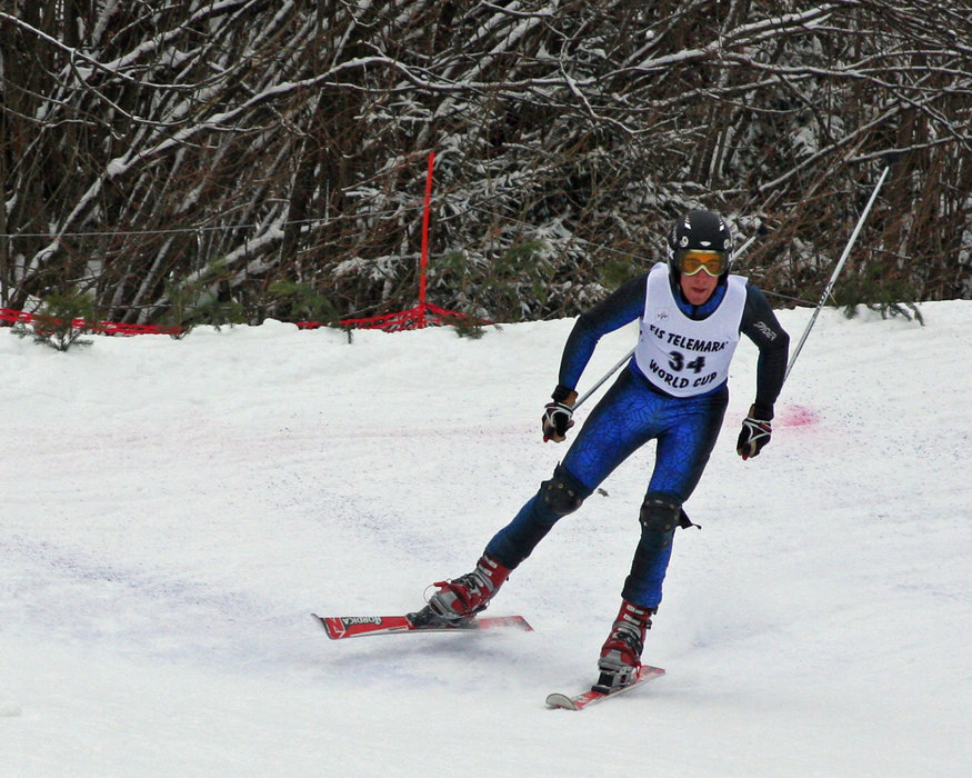 Ben Paley competing at Steamboat, CO. Photo by Lorin Paley.