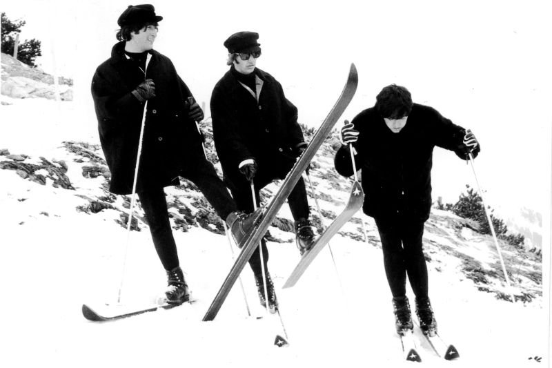 The Beatles on a visit to Obertauern AUT