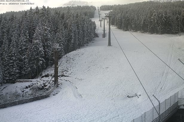 neve fresca 10 Ottobre 2016 - ©webcam