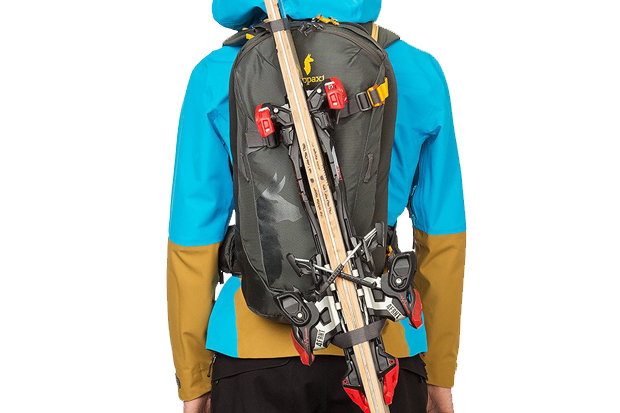 Cotopaxi Cayambe Pack: $129.95 A badass bag from a brand of the same superlative, the Cayambe is packed with purpose built storage spaces, hydration to backcountry touring tools. Speed buckle diagonal ski carry and front snowboard carry will have you doing double takes, as will that price point!