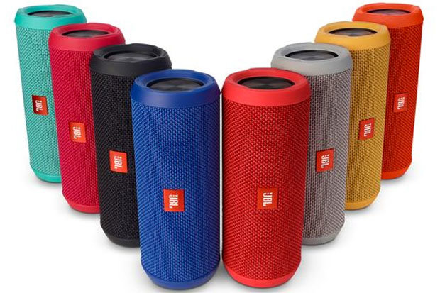 JBL Flip 3: $99.95 No après party is complete without some solid tunes. Crank up the volume with JBL's Flip 3, a portable bluetooth speaker that packs a punch. Features include 10 hours of playtime, a splash-proof case and a variety of colorways.