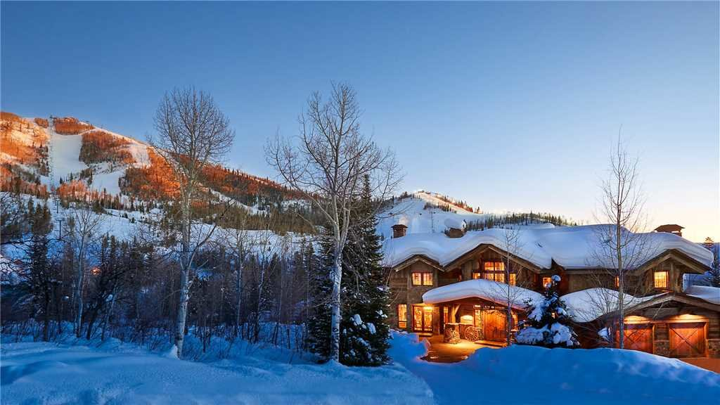 Steamboat's Gold Mine Lodge is a luxury, six-bedroom on-mountain home that sleeps 16 and is situated mere steps away from the Thunderhead chairlift.