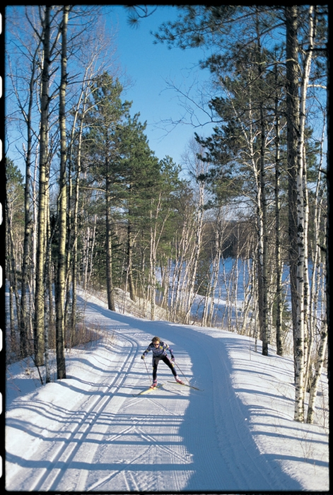 Cross country skier at Giants Ridge, MN.