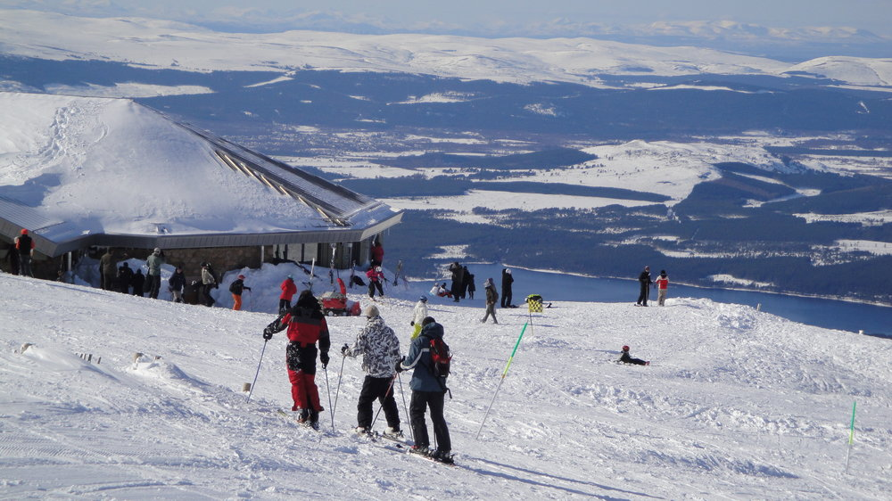 Visitors to Cairngorm, Scotland