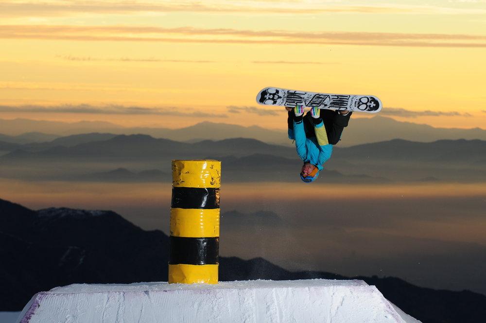 Snowboarder at El Colorado, Chile.  - ©El Colorado Tourism