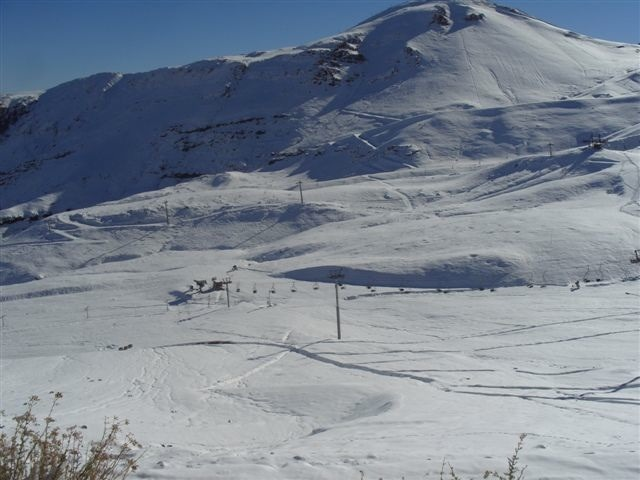 Scenic Valle Nevado, Chile.