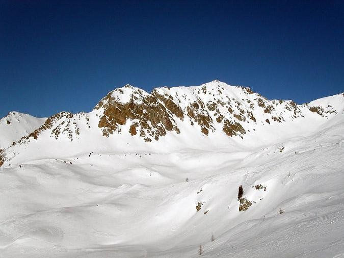 A view of the peak at Isola 2000, France