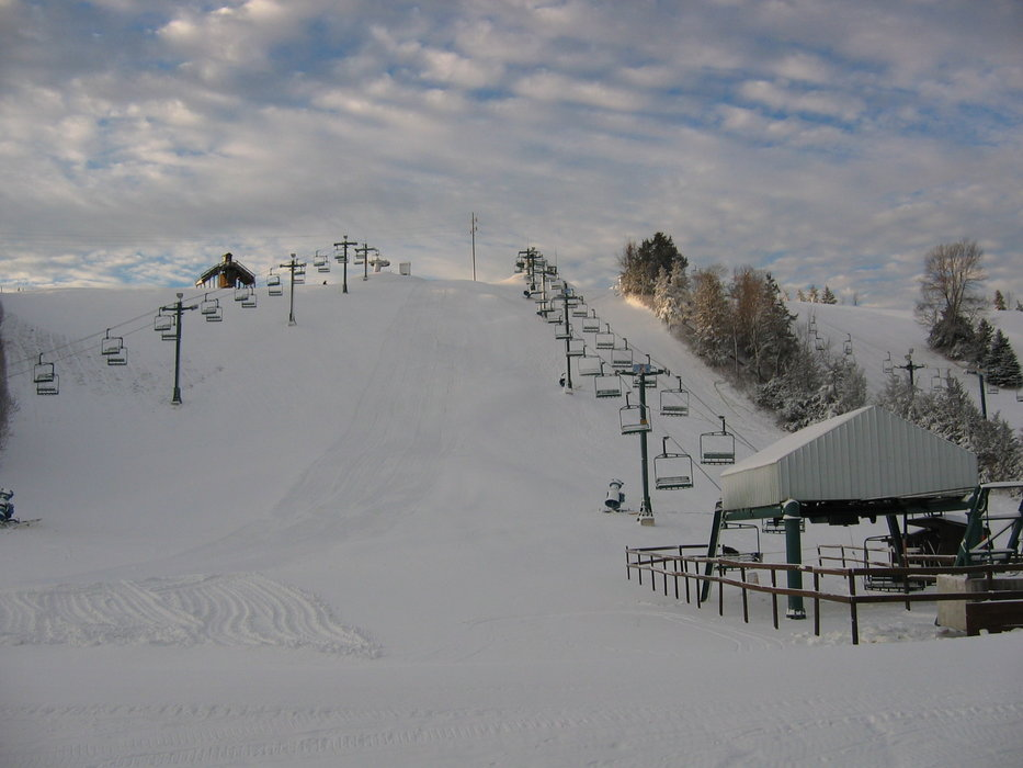 The lifts at Mt Kato, MN.