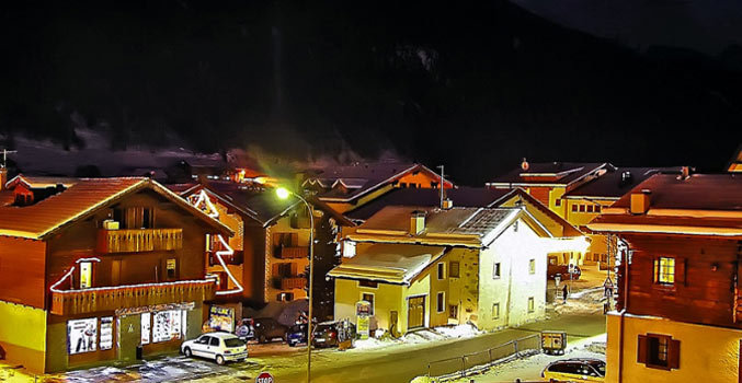Livigno, Italy at night