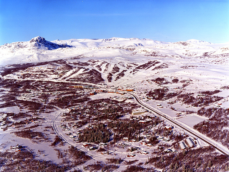 An aerial view of Beitostolen, NOR