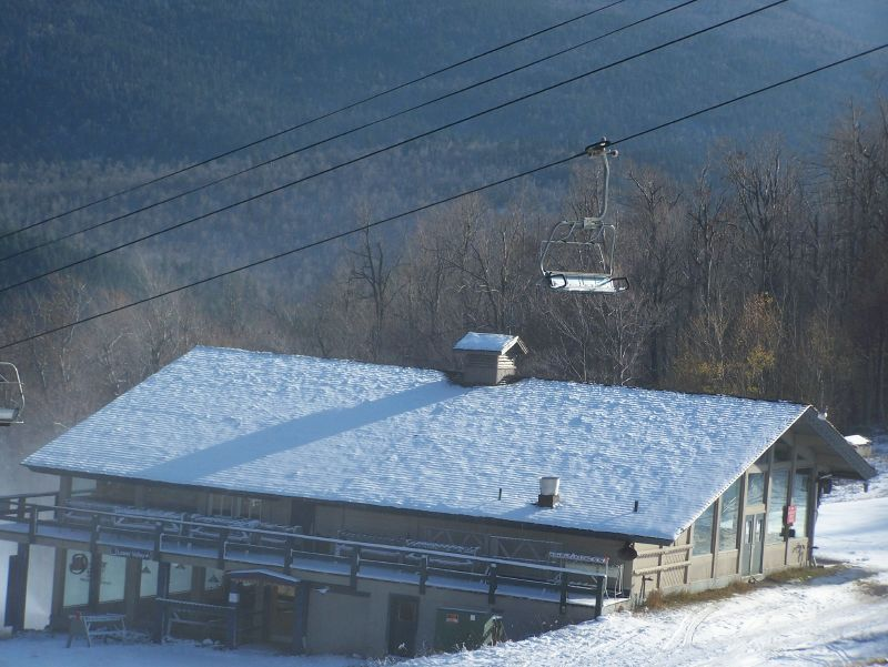 A view of a chairlift at Whiteface, New York