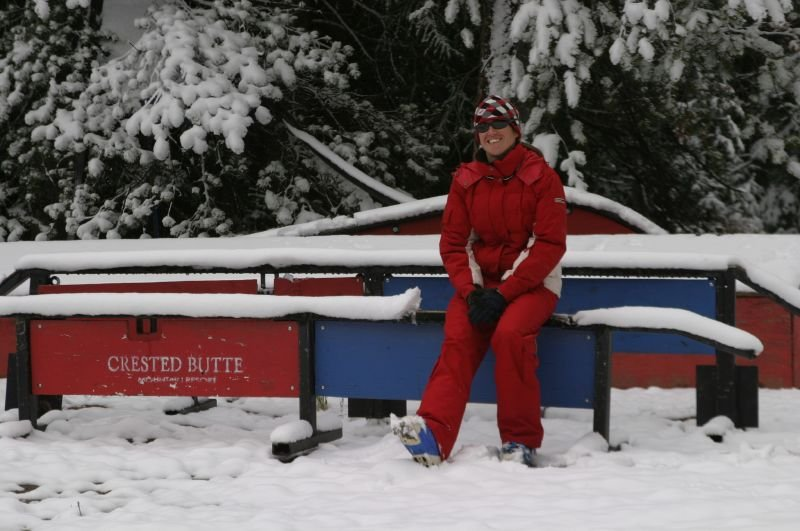 A visitor taking a break at Crested Butte, CO.