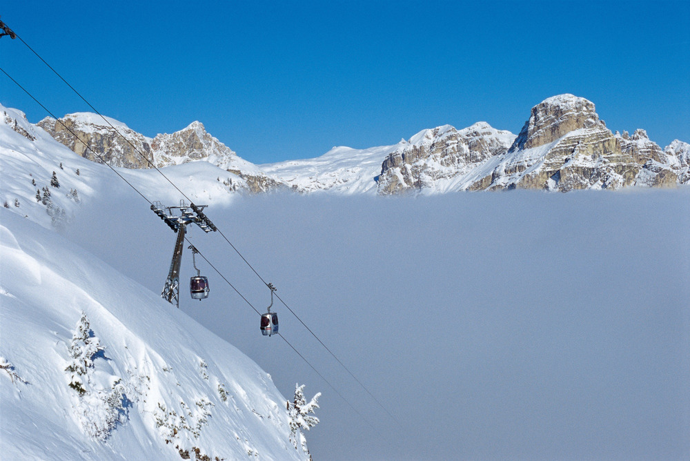 Boé skilift in Alta Badia, Dolomiti Superski - ©Dolomiti Superski