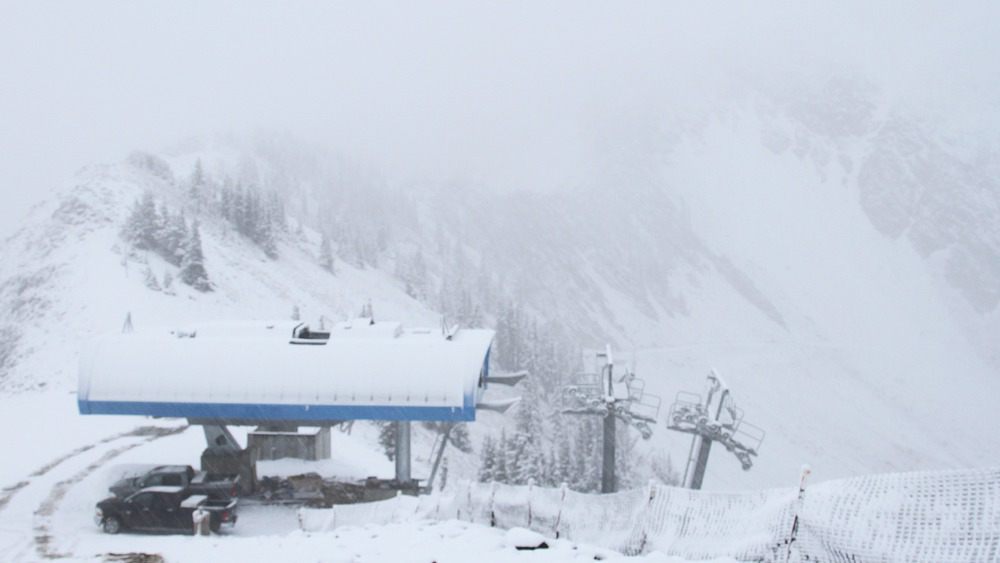 September 25th snow at Snowbird, Utah
