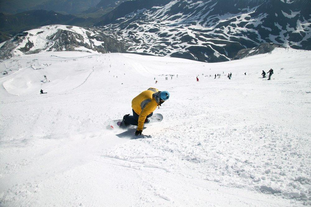 Hitting the slopes in snowsure Tignes