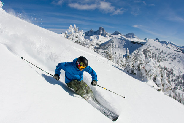Grand Targhee yields big Teton Mountain views. Photo courtesy of Grand Targhee Resort.