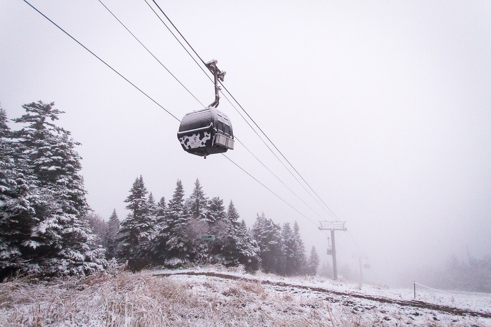 Killington's K-1 Gondola will use Cow Power in 2012/2013. Photo by Chandler Burgess/Killington Resort