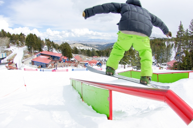 Great Divide gains a name for its terrain parks. Photo courtesy of Great Divide Ski Area.