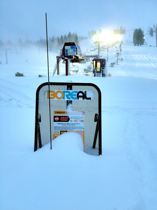 2 feet of snow dropped on Boreal this week.