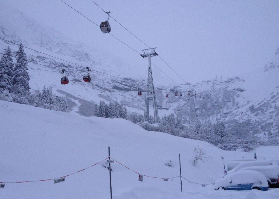 Stubai Glacier with 55cm of snow Oct. 28